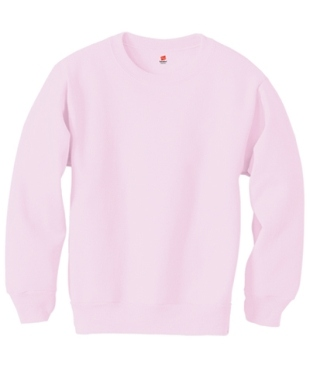 Hanes Pink Youth ComfortBlend Crew Neck Sweatshirt