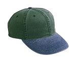 Washed Bull Denim Two-tone Cap