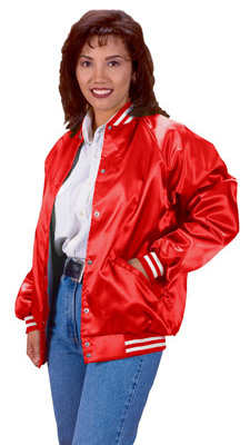 Cardinal Activewear Satin Baseball Jacket light lined with stripe ...