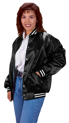 Cardinal Activewear Satin Baseball Jacket Light Lined With