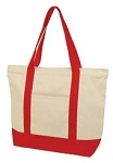Deluxe Zippered Cotton Canvas Tote