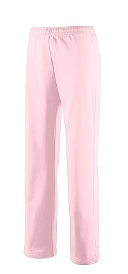 Ladies Pink Brushed Tricot Pants by Augusta Sportswear