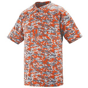 Digi-print 2-Button T-Shirt shown in Orange; other colors available