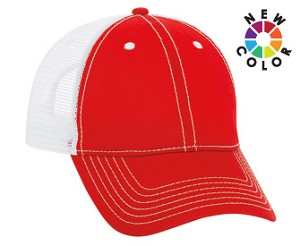 6 Panel Cotton Low Profile Cap with mesh back; click on color options below to view more colors