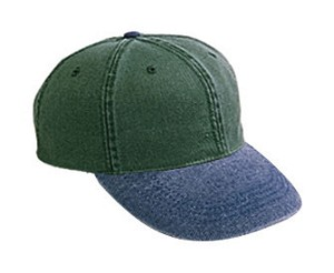 Cotton washed bull denim cap; click on color options to see additional colors