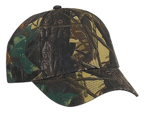 6 Panel Camo Cap; click on color options below to view more colors