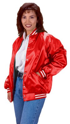 Cardinal Activewear Satin Baseball Jacket Light Lined With