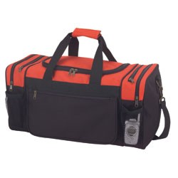 Sports duffel bag; click on options to view additional colors