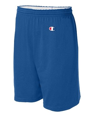 Adult Cotton Jersey Gym Shorts by Champion; available in 8 colors