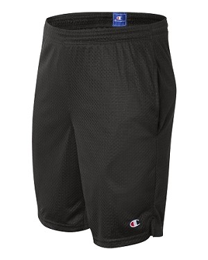 Adult Polyester Mesh Shorts with Pockets by Champion; available in 7 colors